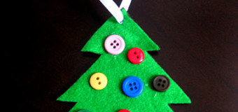 Easy Christmas Crafts for Kids-Felt Christmas Tree