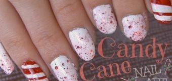 Candy Cane Nail Art How To – Stripes & Glitter – Christmas DIY