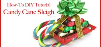 CHRISTMAS CANDY CANE SLEIGH HOW TO DIY TUTORIAL!!!