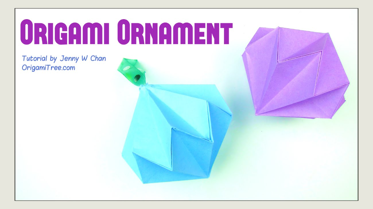 How to make an origami ornament