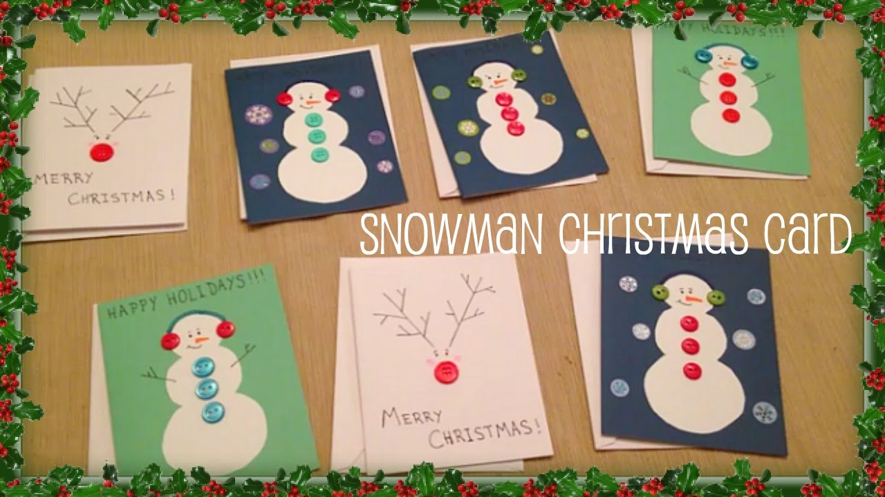 Craft- Simple Snowman Christmas Cards
