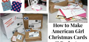 DIY American Girl Doll Christmas Cards and Packages