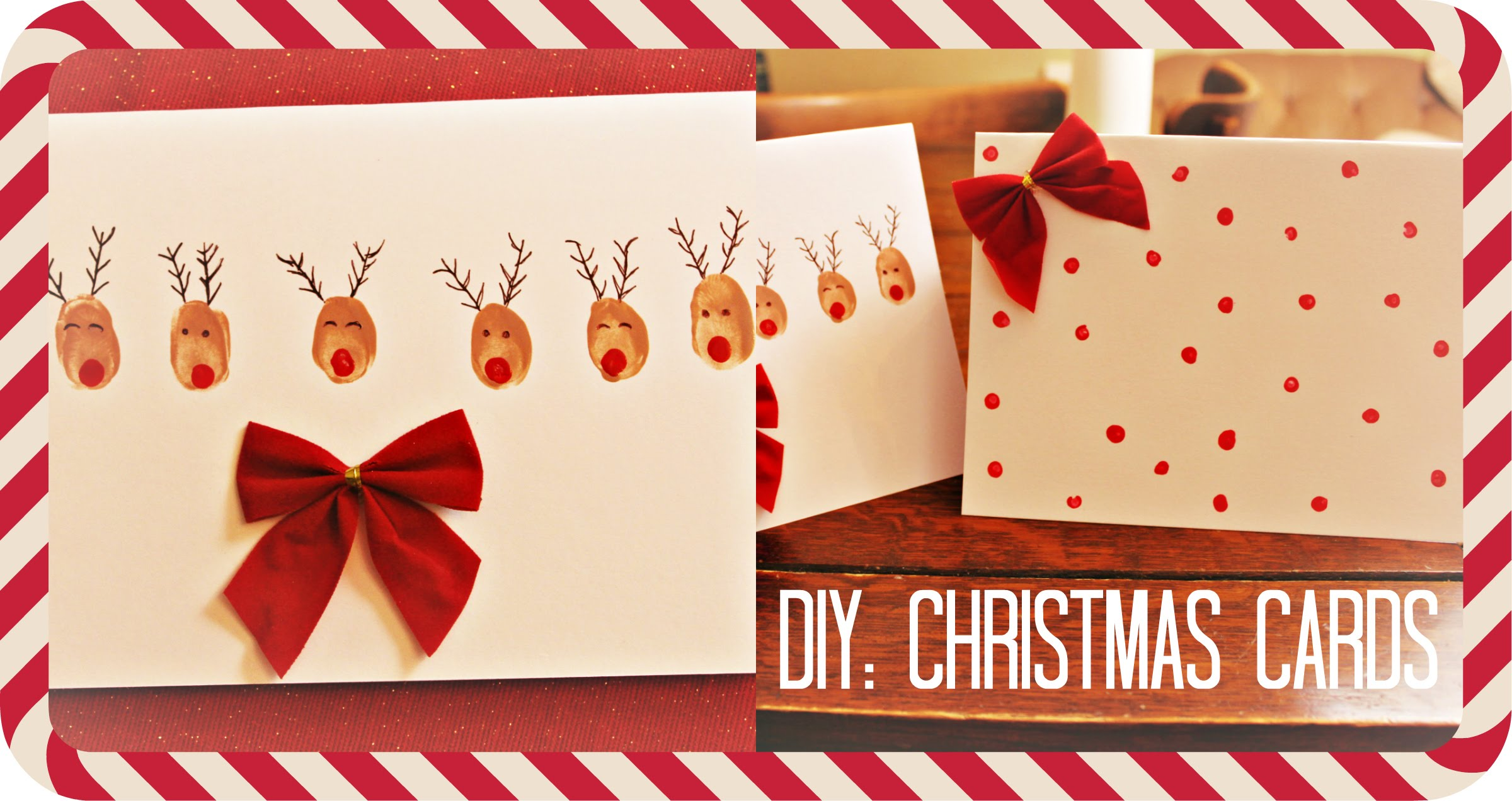 DIY Christmas Cards/Holiday Cards ❄️