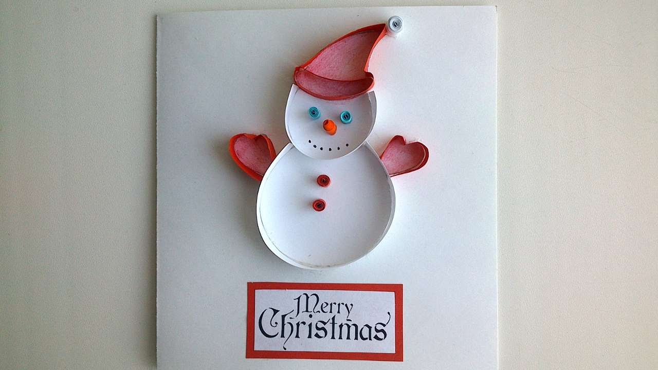 How To Make A Snowman Christmas Card – DIY Crafts Tutorial – Guidecentral