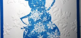How to make Snowman with 4 layers of snow flakes Christmas Card