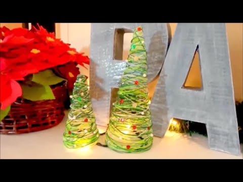 Mini Christmas tree of wire, inexpensive ideas for decorating easy Christmas crafts – Isa ❤️
