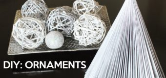 Newspaper Ornaments – 12 DAYS OF CHRISTMAS CRAFTS
