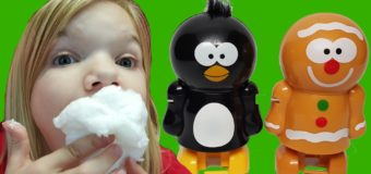 Snowman Poop!  Christmas candy | Kid Candy Review | Babyteeth4