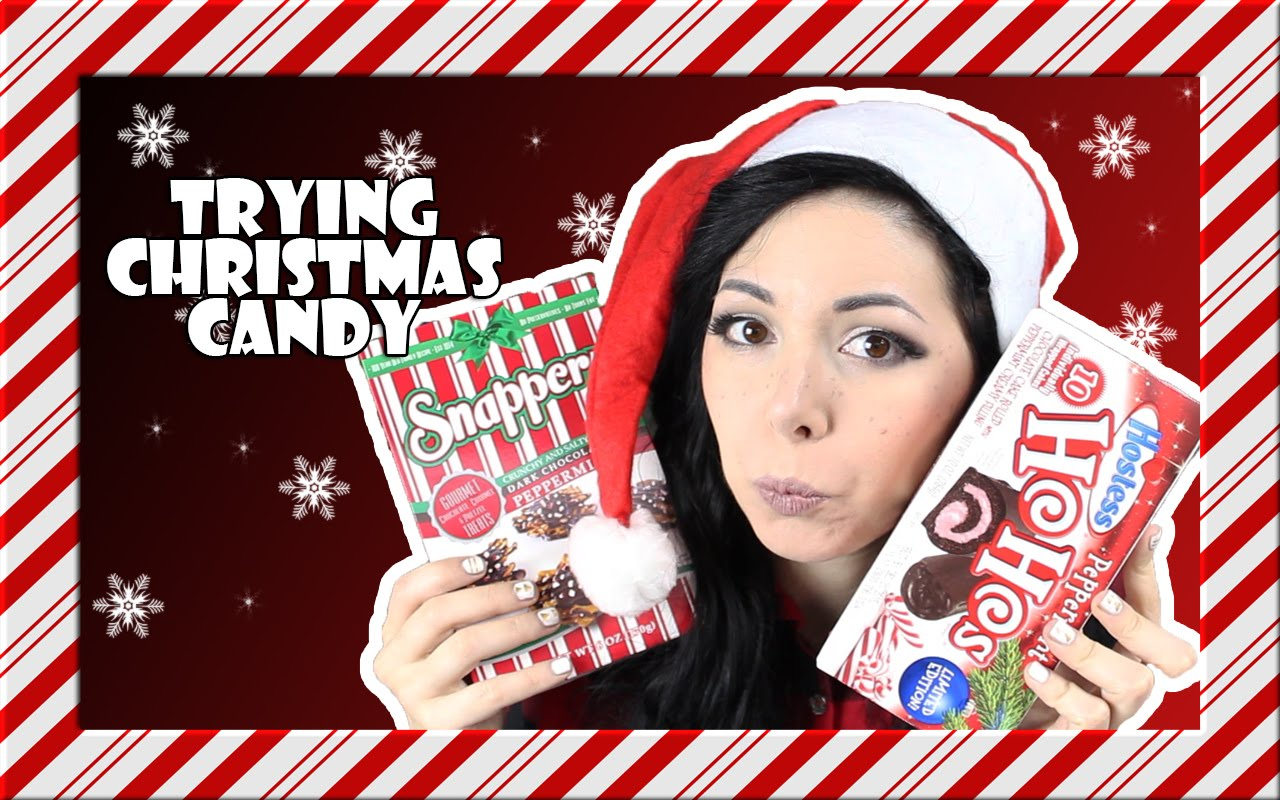 TRYING CHRISTMAS CANDY ❤ A LOT OF PEPPERMINT !