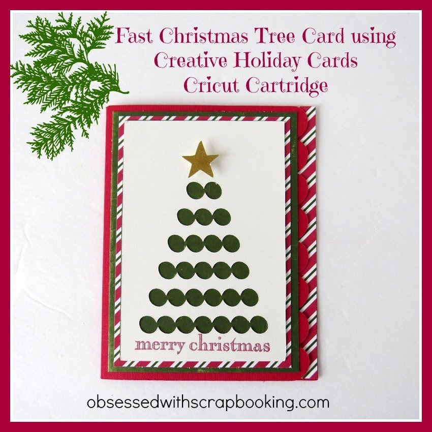 Cricut Creative Cards Holiday Christmas Tree