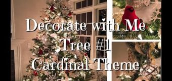 Cardinal Christmas Tree How-To Dollar Tree ornaments