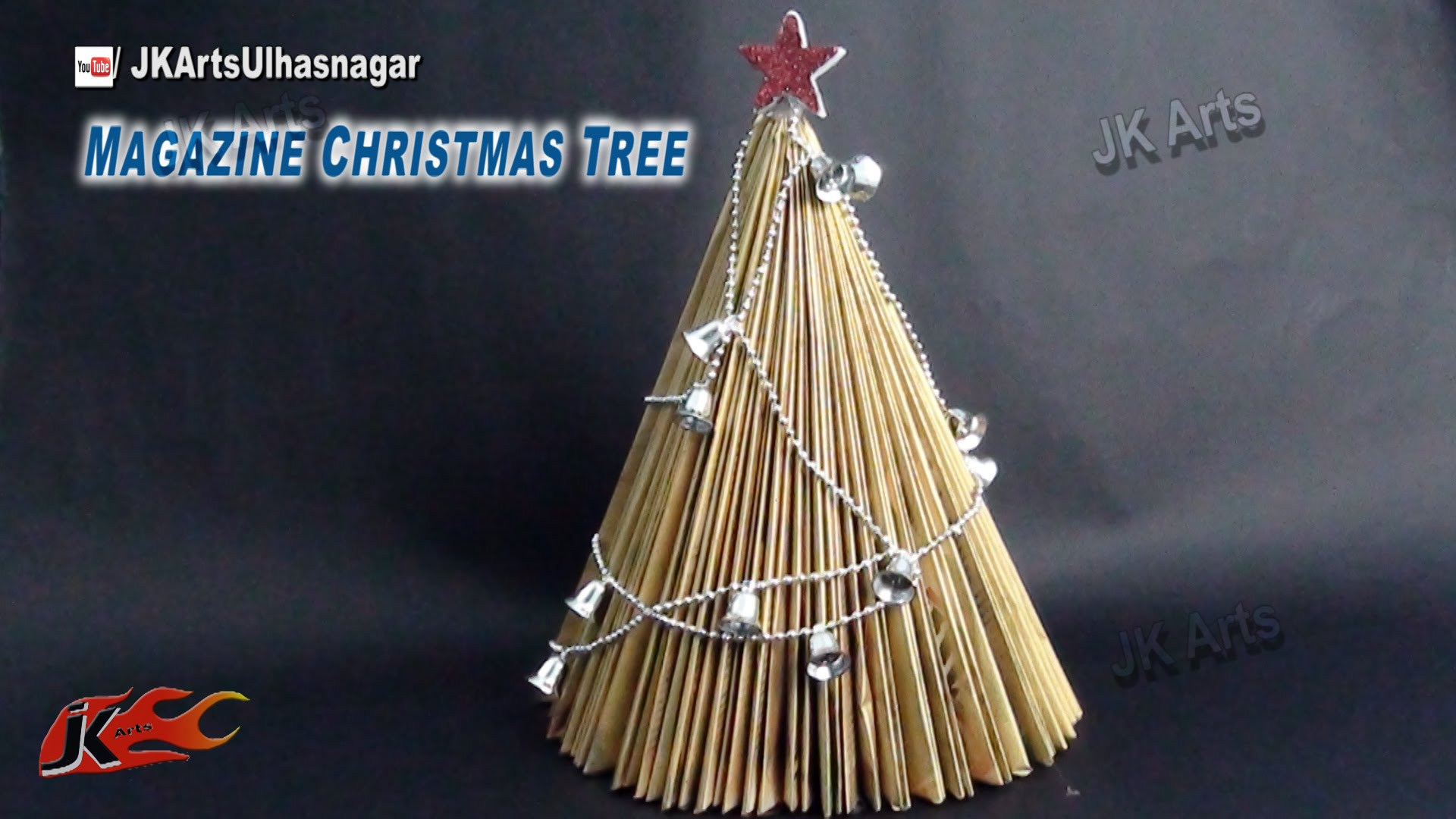 How To Make Paper Christmas Tree From Waste Magazine Diy