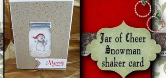 Jar of Cheer Snowman shaker card