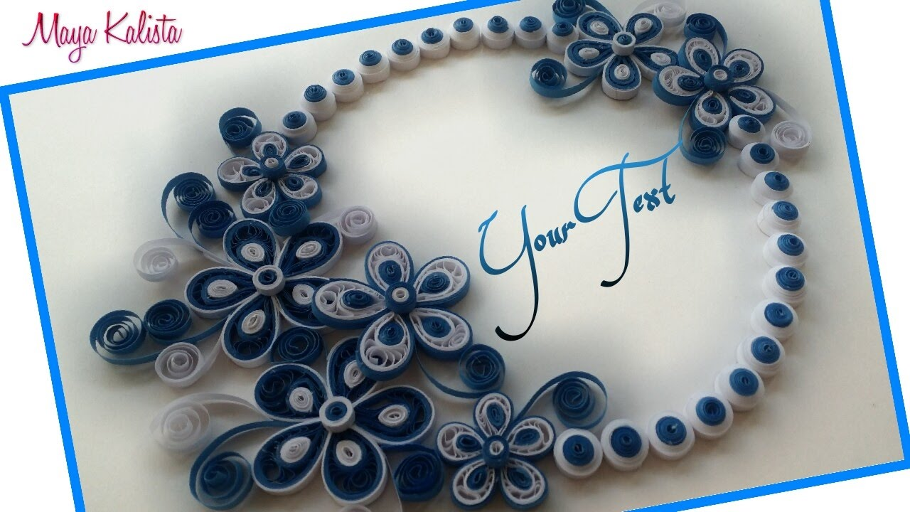 Diy crafts how to make diy paper quilling greeting card for How to make a paper design