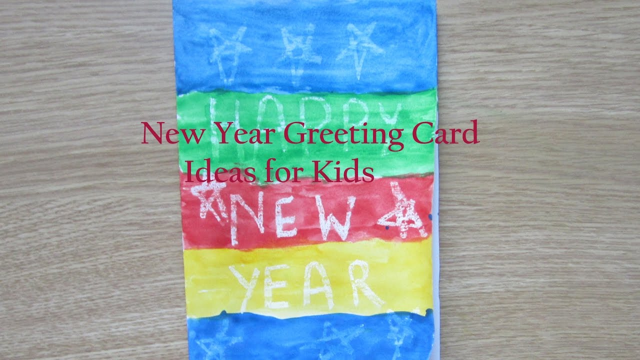 How To Make New Year Cards At Home New Year Greeting Card Making