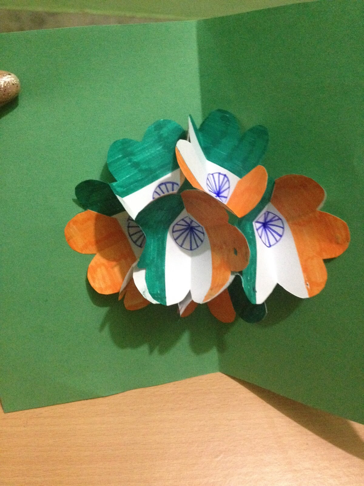 How To Make Pop Up Card Indian Flag Greeting Card For Kids