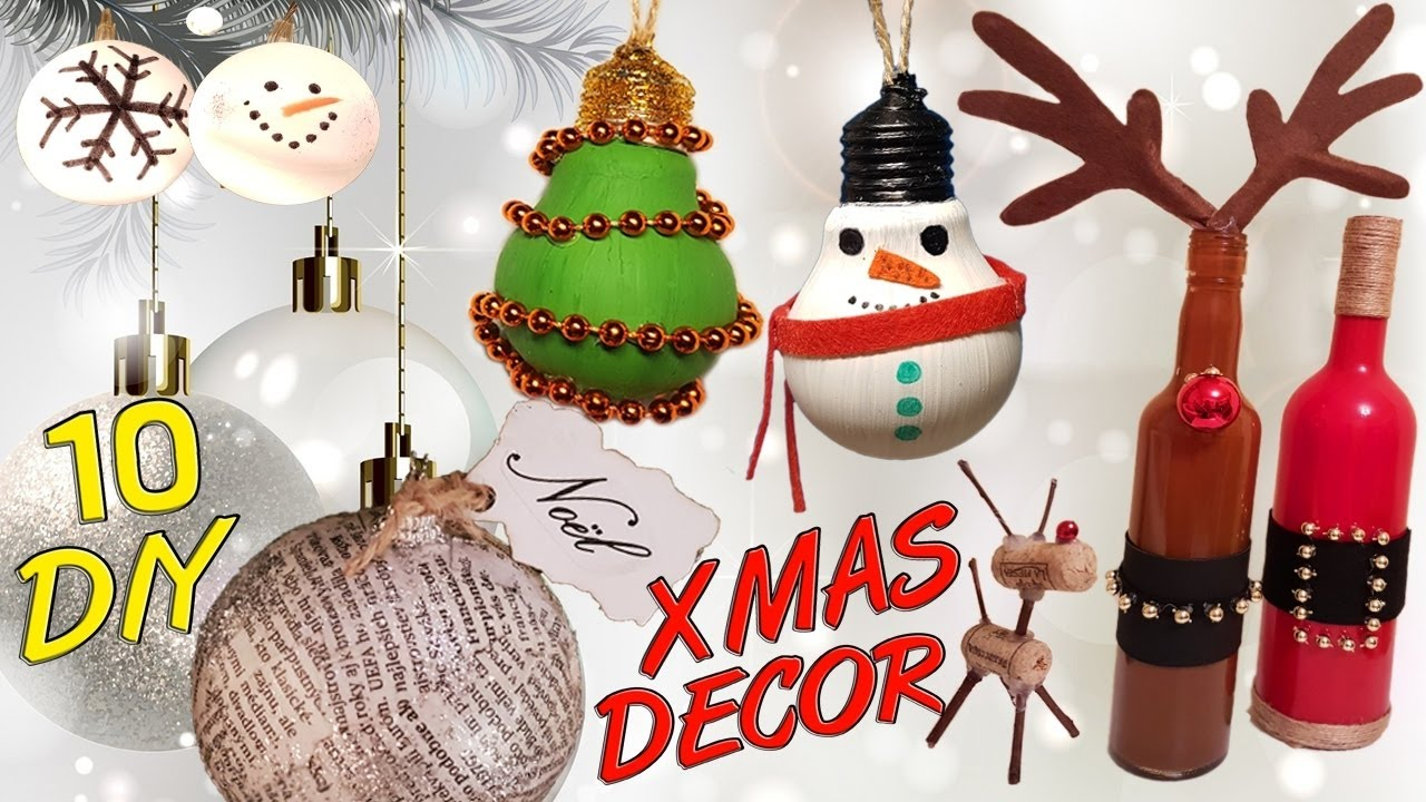 10 diy christmas recycled decoration how to