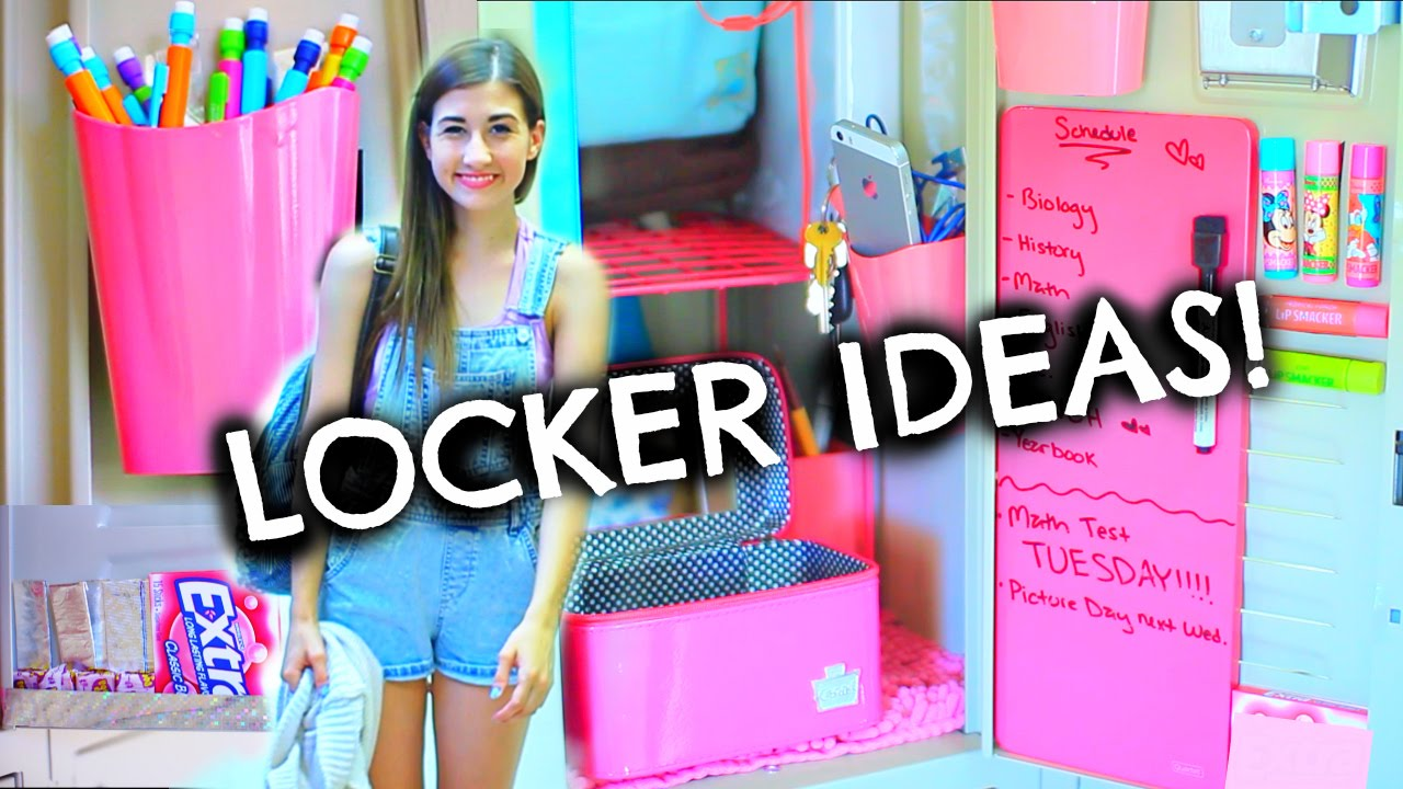 Back to school locker organization diy decorations for Locker decorations you can make at home