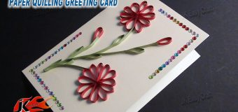DIY Easy Paper Quilling Greeting Card without Tool | How to make | JK Easy Craft 050