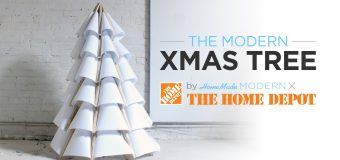 How to make a modern wooden Christmas tree out of plywood