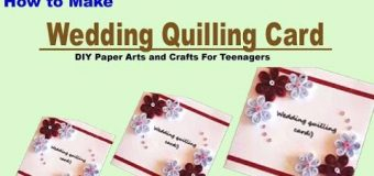 How to make a Wedding Quilling Card For Gift l DIY Paper Crafts  for Teenagers