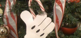 mickey candy cane holder ornament tutorial