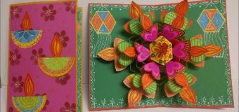 Art and Craft: How to make Pop – up Diwali Greeting Card / Pop – up card