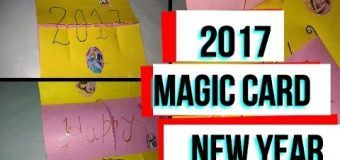 DIY Crafts – how to make magic card / new year card 2017 / DIY beauty and easy