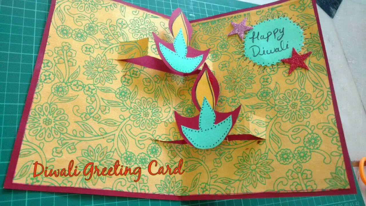 Diy Diwali Greeting Card Making Idea Diwali Popup Card How To