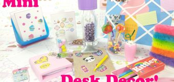 DIY Miniature Folders, Colored Pencils, Cases, & More – Desk Decor