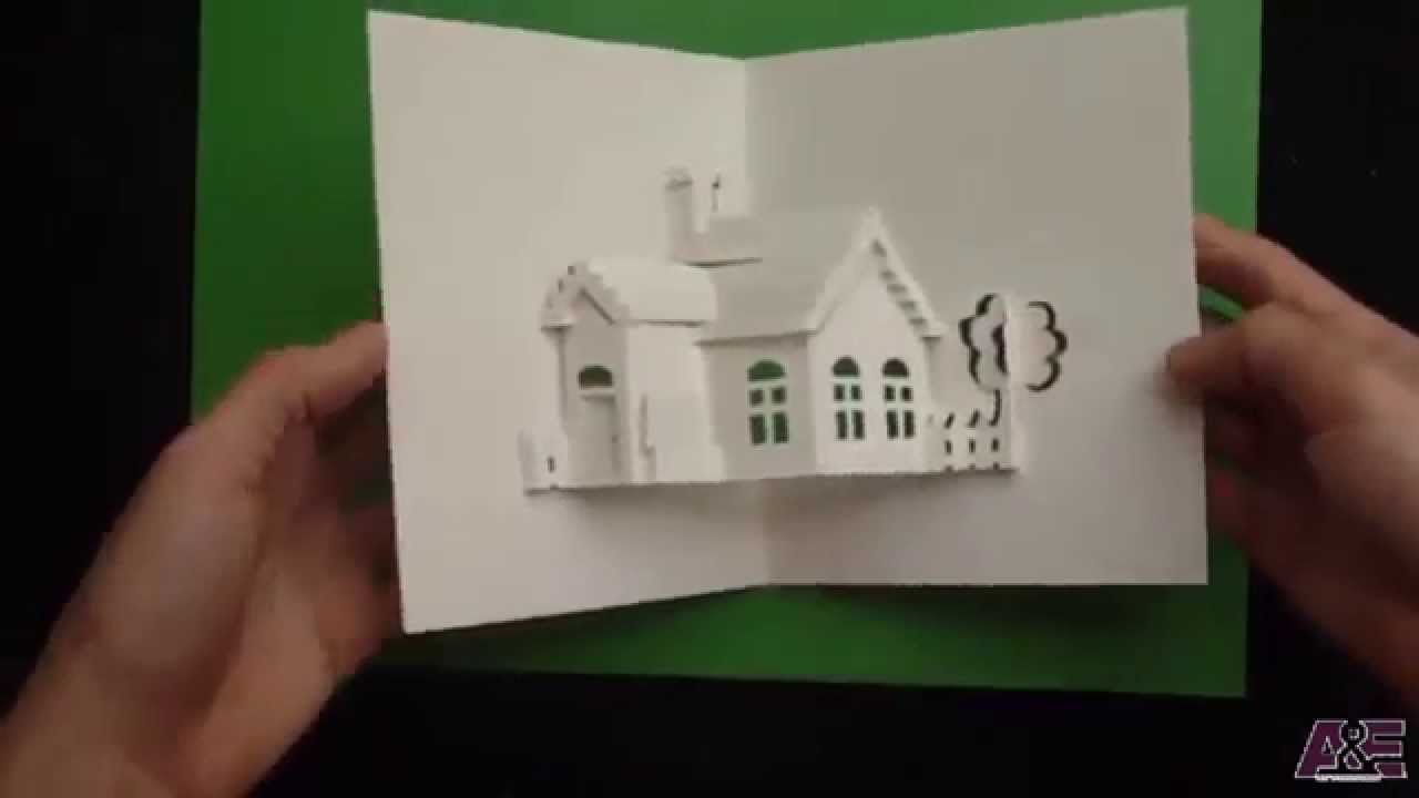 How to make a house pop up card origamic architecture for Build a 3d house online