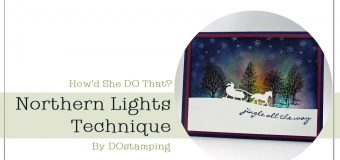 Northern Lights Technique with Stampin' Up! Sleigh Ride Edgelits