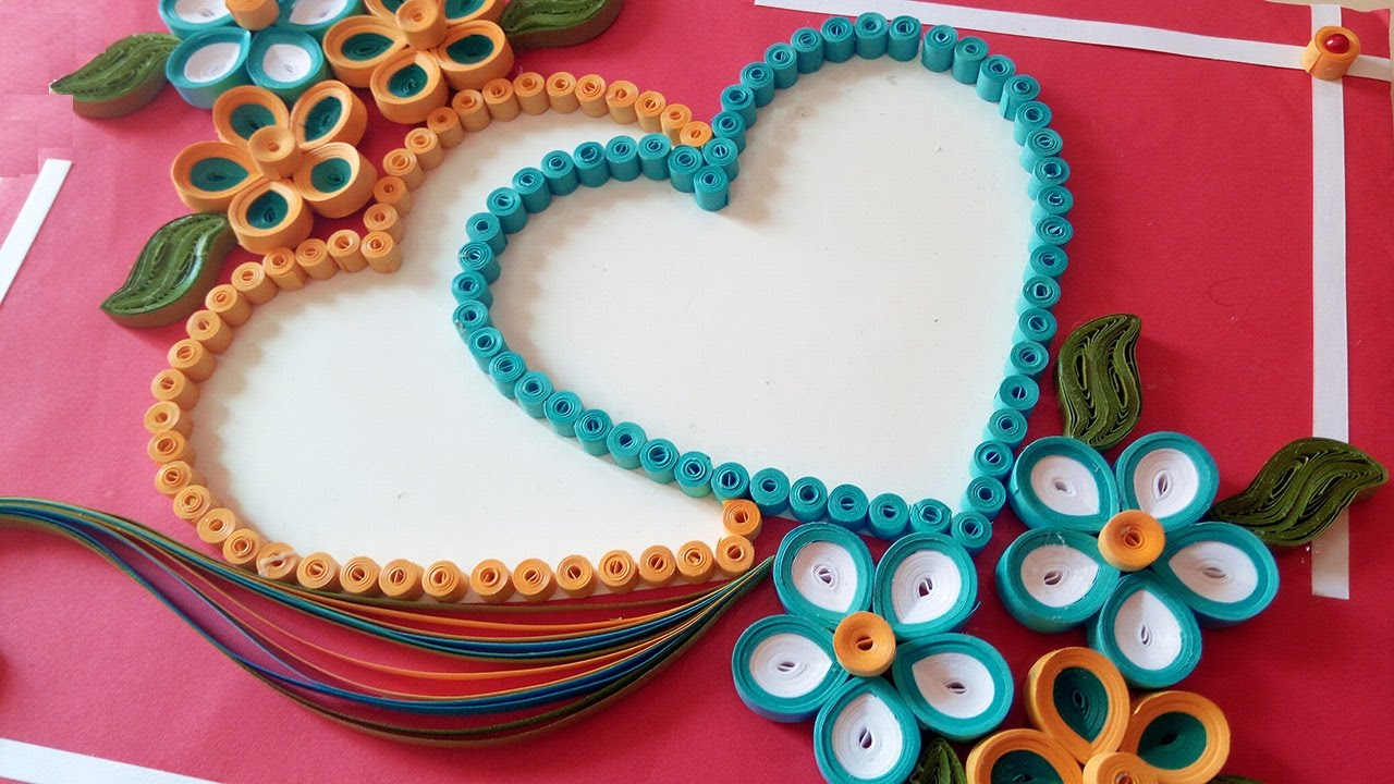Paper quilling how to make a beautiful heart shaped paper quilling how to make a beautiful heart shaped valentines day greeting cards everything 4 christmas kristyandbryce Choice Image