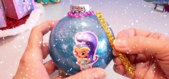 SHIMMER AND SHINE Surprise Toys + DIY XMAS Ornaments Blind Boxes Genie Toy Surprises- Disney Pixar