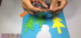 Snowman Christmas 3d Card Part 2 – Origami Paper For Beginners