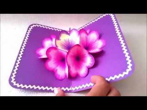 3d flower pop up card easy to make a 3d flower pop up paper card 3d flower pop up card easy to make a 3d flower pop up paper card tutorial 2017 everything 4 christmas mightylinksfo