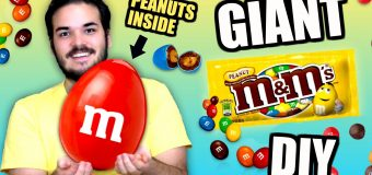 DIY Giant Peanut M&M! – How To Make BIGGEST Edible M&M's Candy Ever! Tutorial