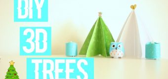 Diy PAPER 3D Christmas TREES Diy Christmas Decor!