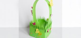 How to Make – Paper Grass Basket Easter Spring – Step by Step DIY   Papierowy Koszyk Wielkanoc