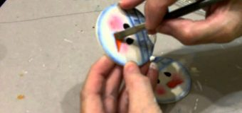 Painting a Snowman Ornament