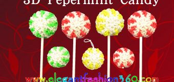 Rainbow Loom Peppermint Lollipop/Candy/Ornament/Holiday 3D Charm – How to Loom Bands