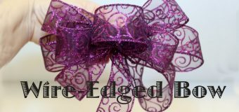 Wire Edged Ribbon Bow