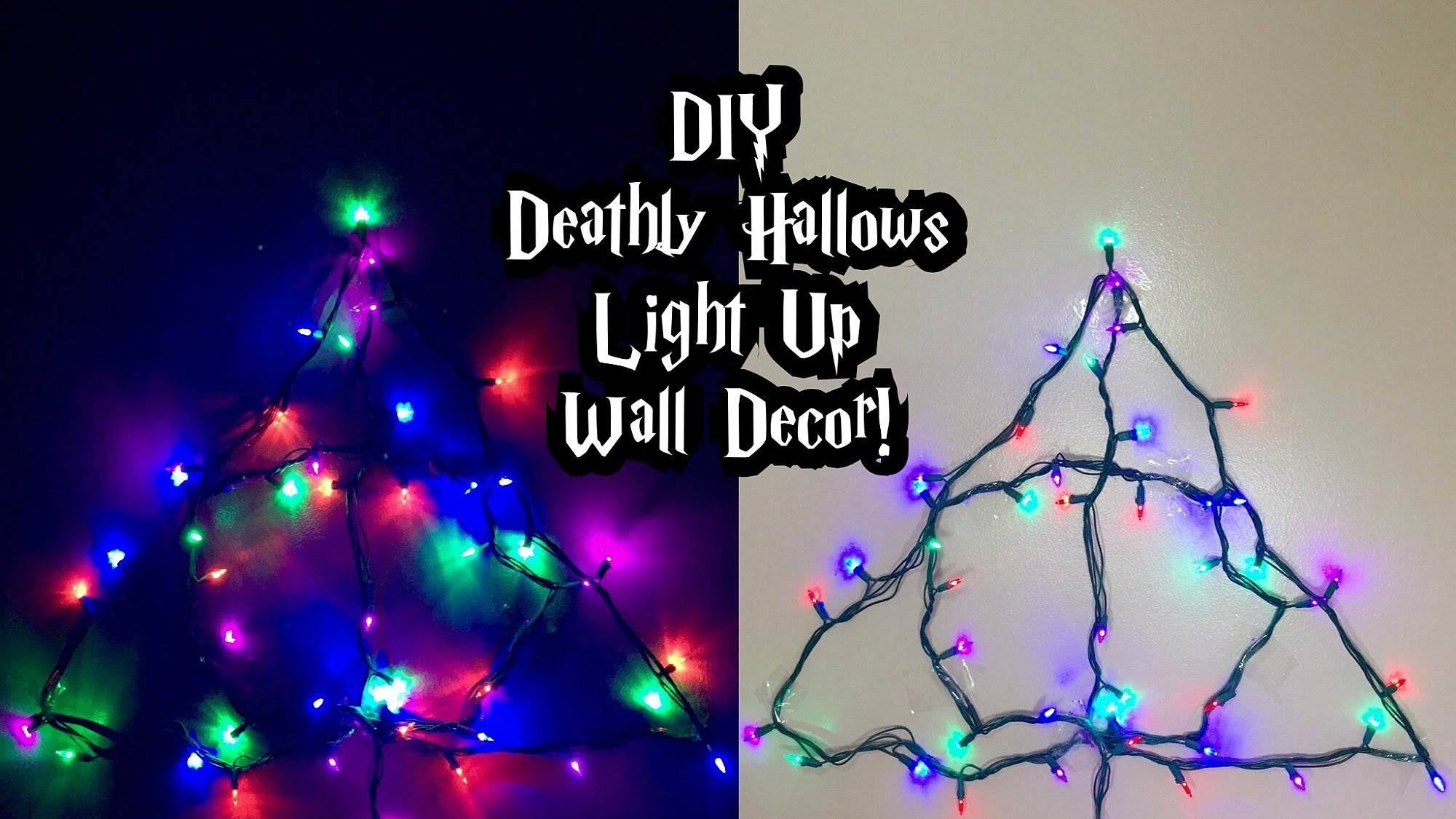 Fixing Christmas Lights To Wall : DIY Deathly Hallows light up wall decor - Everything 4 Christmas