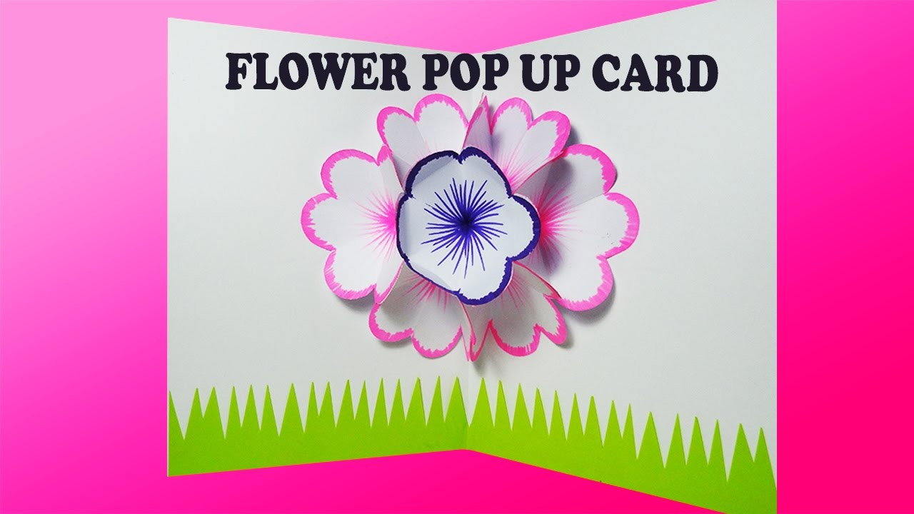 How To Make A Flower Basket Pop Up Card : How to make a basic face pop up card cards