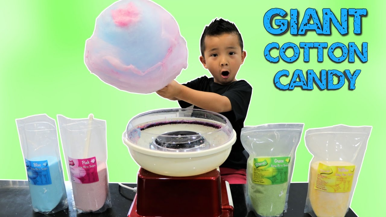 How To Make A GIANT COTTON CANDY Fairy Floss Kids Fun DIY ...