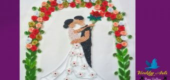 Paper Quilling Art | Beautiful Custom Wedding Greeting Card With Dancing Couple
