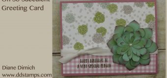 Stampin' Up! Oh So Succulent Greeting Card