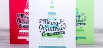 [Technique Tuesday] DIY Simple Christmas Tree Stencil with Channin