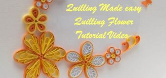 DIY Craft Ideas-How to make Beautiful Quilling Yellow/Orange Flower New design -Paper Art Quilling