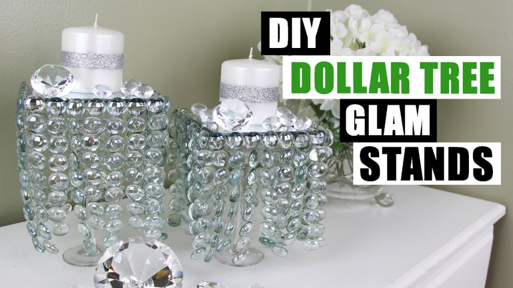 Diy Dollar Tree Glam Decor Stands Dollar Store Diy Candle Holders Bling Candles Diy Glam Room Decor Everything 4 Christmas